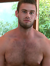 Muscular Young Pup Tom Strips & Shows off His Very Hairy Body