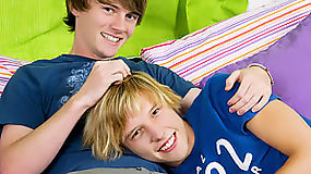 Angelic twinks banging madness with juicy blowjob