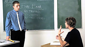 Angry teacher spank student and penetrate his tight ass for misbehaving