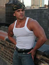 Straight Latin Muscle Man Nude: Spike Cruz