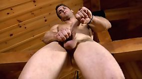 Don't miss this awesome hunk playing with his erect cock!