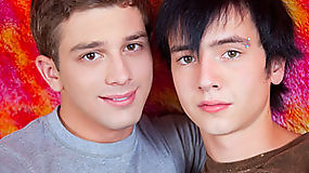 A very attractive combo of playful twinks find a way to enjoy each others cock