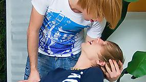 Super hot twink teaches fantastic sexual tricks