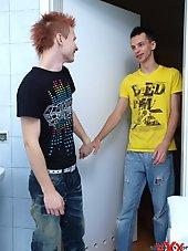 Cute Twinks doing it in the bathroom