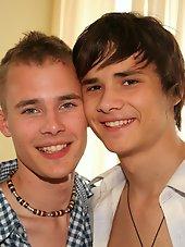 Cute Teen Boy Duo learning by doing it