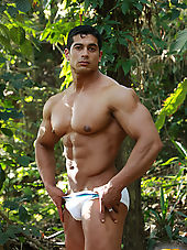 Hot Uncut Latin Cock and Muscle!