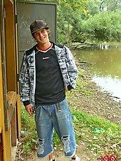 Skinny TeenBoy outdoor in the woods